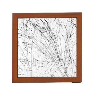Winter-Gras im Schnee Stifthalter