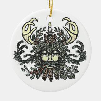 Winter-Greenman Verzierung Keramik Ornament