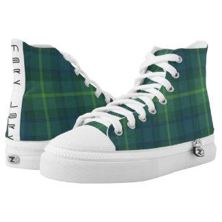 Winter-Grün Hoch-geschnittene Sneaker