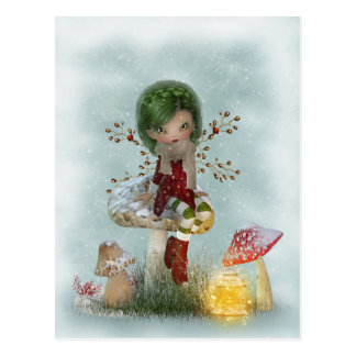 Winter-Grün Postkarte