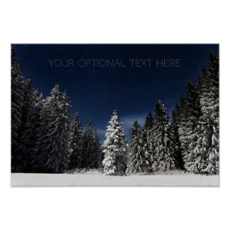 Winter-Himmelgewohnheitsplakat Poster