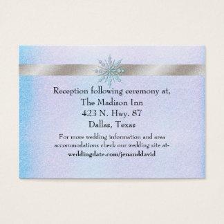 Winter-Hochzeits-Einschließungs-Karte Visitenkarte