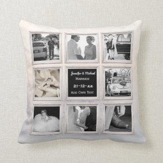 Winter-Hochzeits-Foto-Collagen-oder Kissen