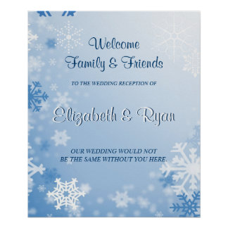 Winter-Hochzeits-kundenspezifisches Poster