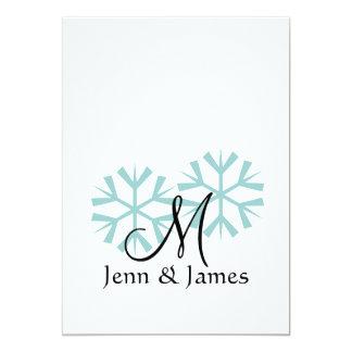 Winter-Hochzeits-Monogramm-Hochzeits-Einladungen 12,7 X 17,8 Cm Einladungskarte
