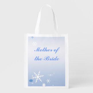 Winter-Hochzeits-Mutter der Braut-Tasche Tragetaschen