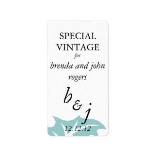 Winter-Hochzeits-Wein-Flaschen-Aufkleber Adressaufkleber