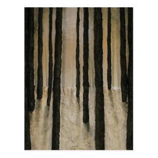 Winter-Holz durch feinen Künstler Alison Galvan Postkarte