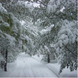 Winter im Wald Fotoskulptur Ornament