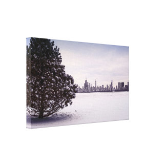 Winter in Chicago - Leinwand Drucke