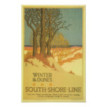 Winter in den Dünen Poster