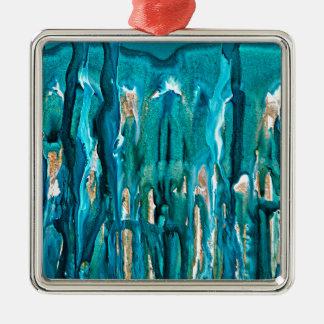Winter in den Kiefern 121517 Silbernes Ornament
