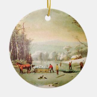 Winter in der Land-Weihnachtsverzierung Keramik Ornament