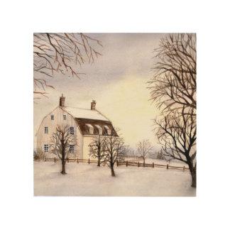 Winter in Neu-England durch Farida Greenfield Holzdruck