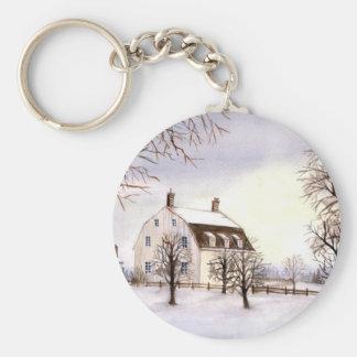 Winter in Neu-England durch Farida Greenfield Schlüsselanhänger