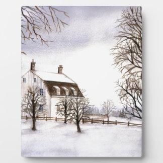 Winter in Neu-England Fotoplatte