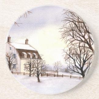 Winter in Neu-England Getränkeuntersetzer