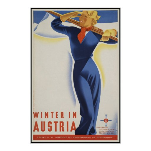 Winter in Österreich Plakat