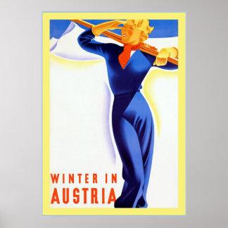Winter in Österreich ~Vintage Reise Poster