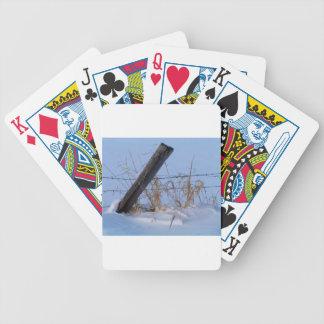 Winter ist hier in Keremeos Bicycle Spielkarten