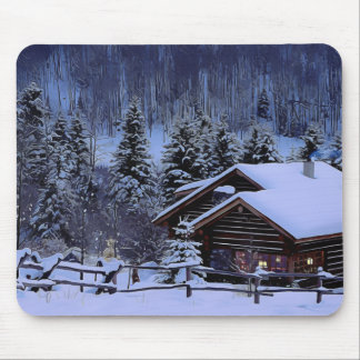 Winter-Kabine Mousepad