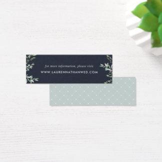 Winter-kardiert weise Hochzeits-Website Mini | Mini Visitenkarte
