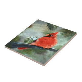 Winter-Kardinal Keramikfliese