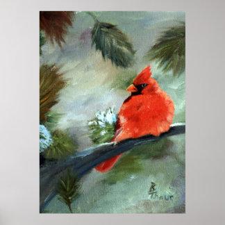 Winter-Kardinal Poster