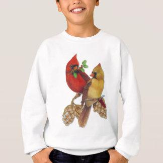 Winter-Kardinäle Kiefer und Stechpalme Sweatshirt