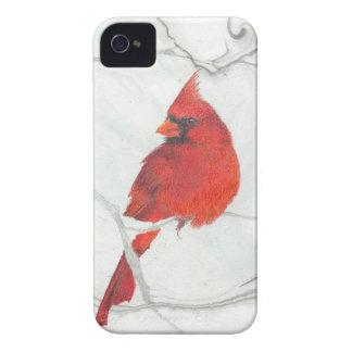 Winter-Kardinals-Zeichnen iPhone 4 Case-Mate Hülle