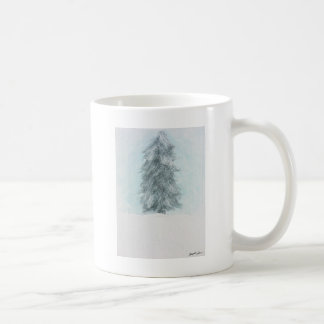 Winter-Kiefer - Acrylmalerei Kaffeetasse