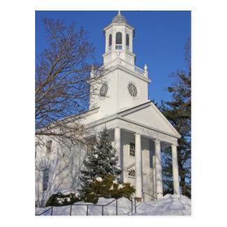 Winter-Kirche Postkarte