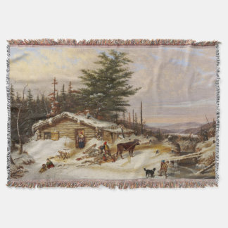 Winter-Klotz-Hauskunst-Wurfsdecke Decke