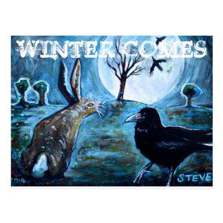 Winter kommt postkarte