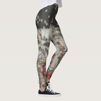 Winter-Kran-fallende Blüte Leggings