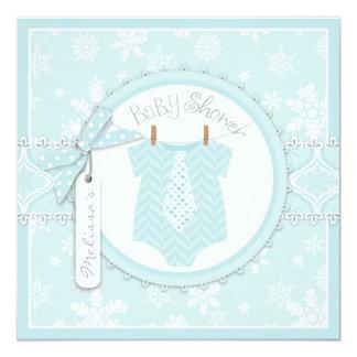 Winter-Krawatten-und Quadratische 13,3 Cm Einladungskarte