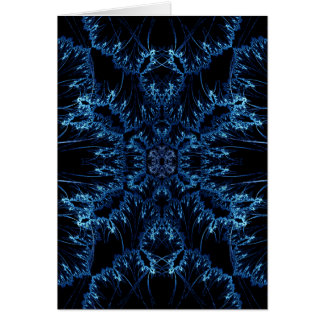 Winter-Kristall Grußkarte