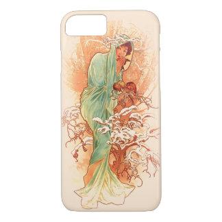 Winter - Kunst Nouveau Alphonse Mucha iPhone 7 Hülle