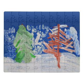 Winter - Kunst von Kindern Puzzle