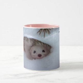 Winter - Kurz-Angebundener Weasel Tasse