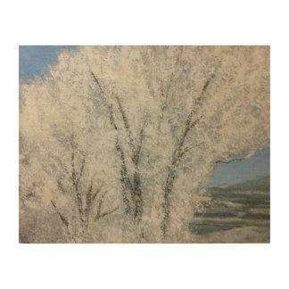 Winter Landcape Utah Holzleinwand