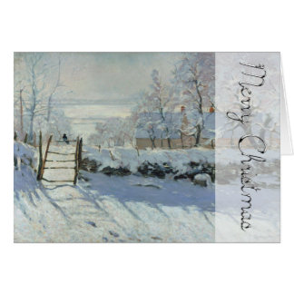 Winter-Landschaft die Elster durch Monet Karte