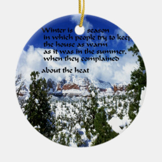 Winter-Landschaft in Sedona Arizona Keramik Ornament