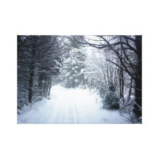 Winter-Landschaft Leinwanddruck