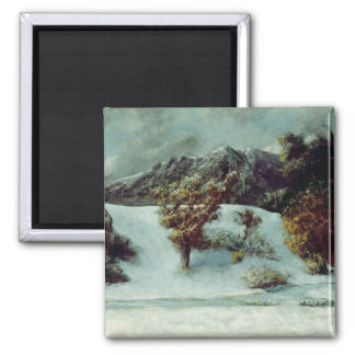 Winter-Landschaft mit den Einbuchtungen DU Midi, 1 Quadratischer Magnet