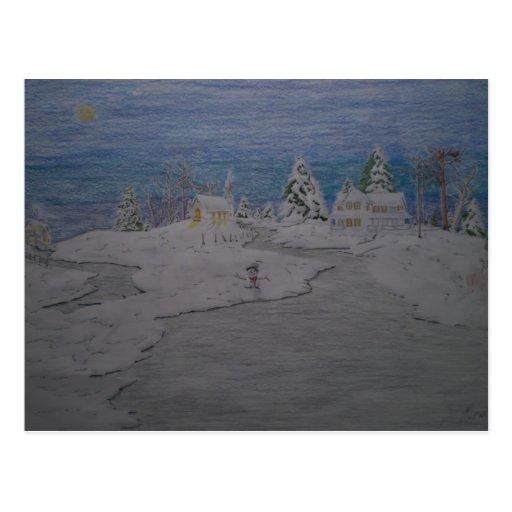 Winter-Landschaft Postkarten