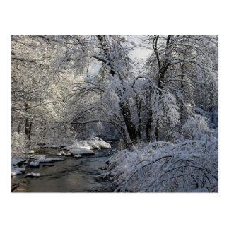 Winter-landschaftliche Landschaft Postkarte