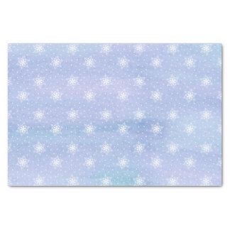 Winter-lila blauer Himmel-weiße Seidenpapier