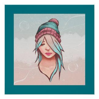 Winter-Mädchen-Plakat Poster