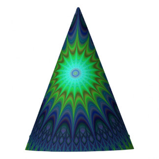 Winter-Mandala Partyhütchen